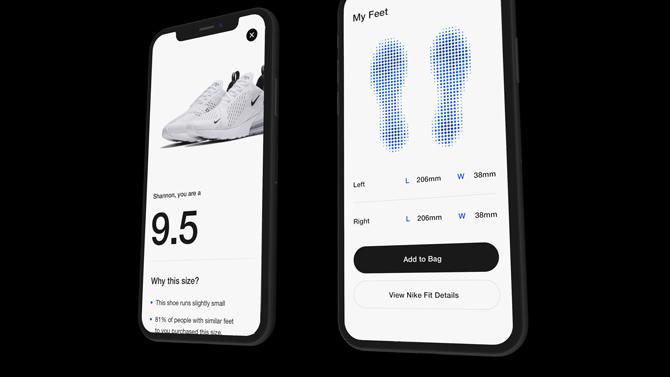 Nike создали приложение, которое определяет размер ноги (фото 2)